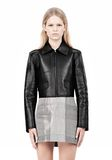 ALEXANDER WANG EXCLUSIVE BONDED ZIP FRONT JACKET WITH KNIT BACK Jacket Adult 8_n_e