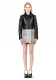ALEXANDER WANG EXCLUSIVE BONDED ZIP FRONT JACKET WITH KNIT BACK Jacket Adult 8_n_f