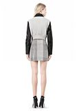 ALEXANDER WANG EXCLUSIVE BONDED ZIP FRONT JACKET WITH KNIT BACK Jacket Adult 8_n_r
