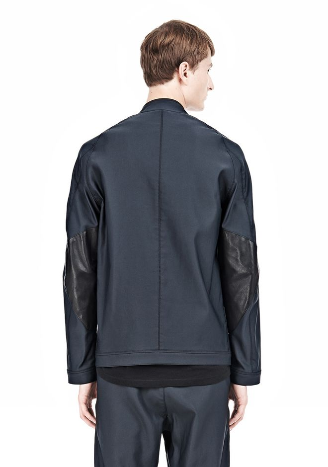 ALEXANDER WANG BOMBER JACKET WITH LEATHER ELBOW PATCH Jacket Adult 12_n_a