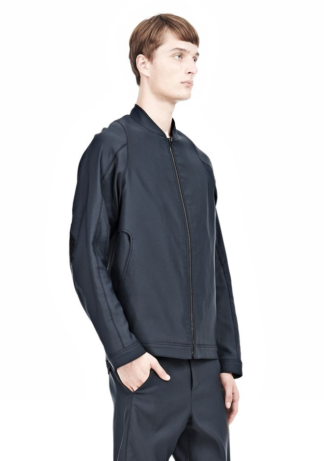 ALEXANDER WANG BOMBER JACKET WITH LEATHER ELBOW PATCH Jacket Adult 12_n_d