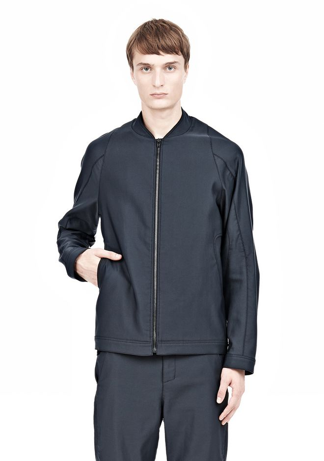 ALEXANDER WANG BOMBER JACKET WITH LEATHER ELBOW PATCH Jacket Adult 12_n_e