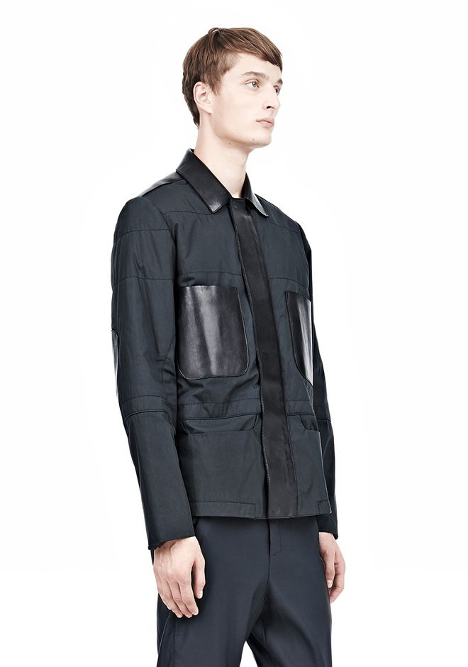 ALEXANDER WANG PADDED HUNTER JACKET WITH BONDED LEATHER COMBO Jacket Adult 12_n_a