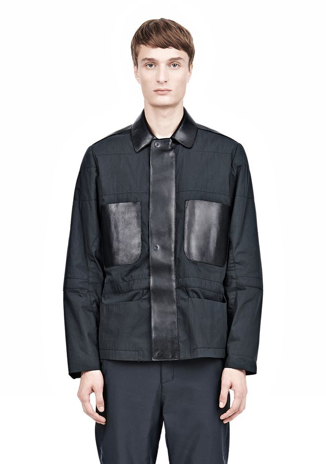 ALEXANDER WANG PADDED HUNTER JACKET WITH BONDED LEATHER COMBO Jacket Adult 12_n_e