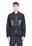 ALEXANDER WANG PADDED HUNTER JACKET WITH BONDED LEATHER COMBO Jacket Adult 8_n_e