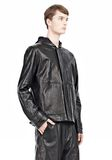 T by ALEXANDER WANG WASHED LEATHER HOODED JACKET Jacket Adult 8_n_a