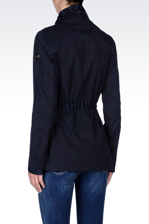 WATERPROOF PARKA WITH CONTRASTING INTERIOR: Parkas Women by Armani - 3