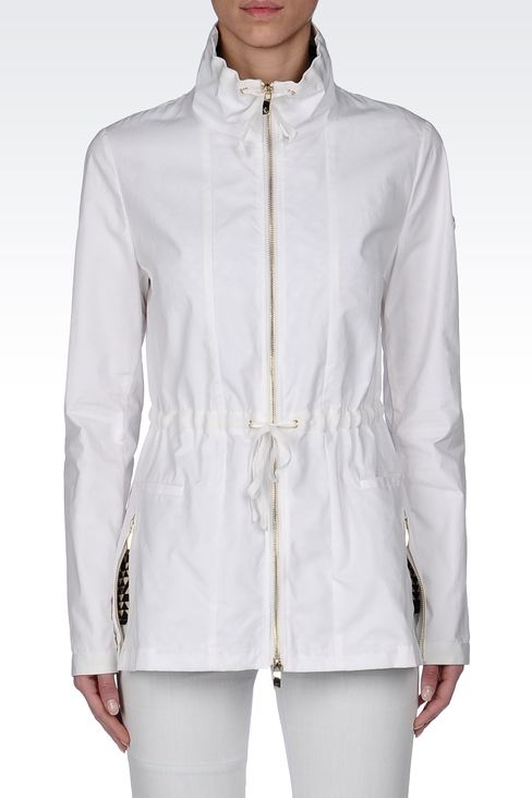 WATERPROOF PARKA WITH CONTRASTING INTERIOR: Parkas Women by Armani - 2
