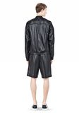 T by ALEXANDER WANG SHINY DOUBLE FACE KNIT BOMBER JACKET JACKETS AND OUTERWEAR  Adult 8_n_r