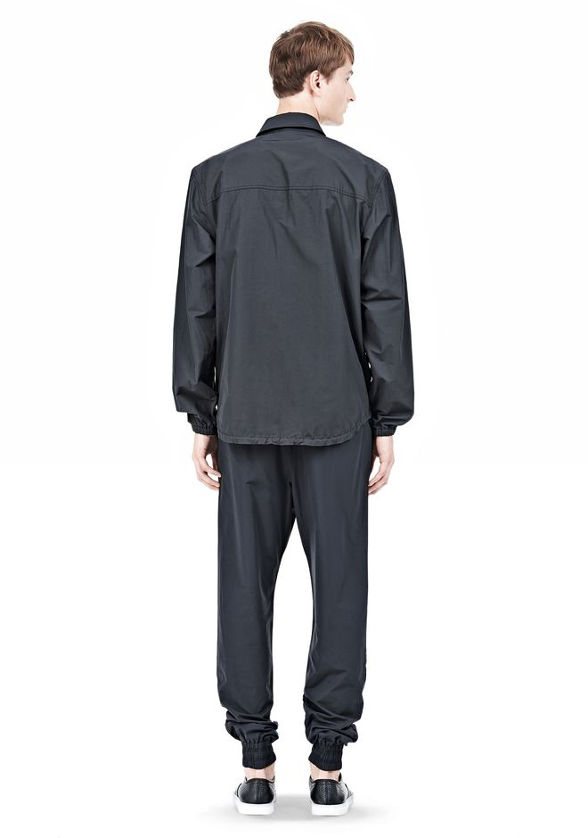 LIGHTWEIGHT NYLON COLLARED SHIRT JACKET