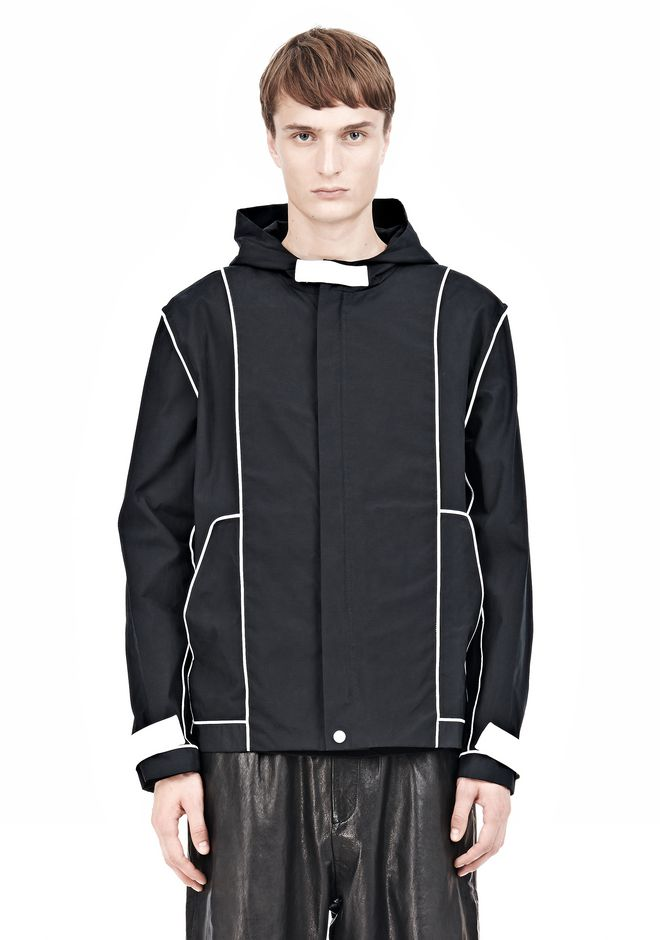 T by ALEXANDER WANG WAX COTTON INSIDE OUT HOODED JACKET JACKETS AND OUTERWEAR  Adult 12_n_e
