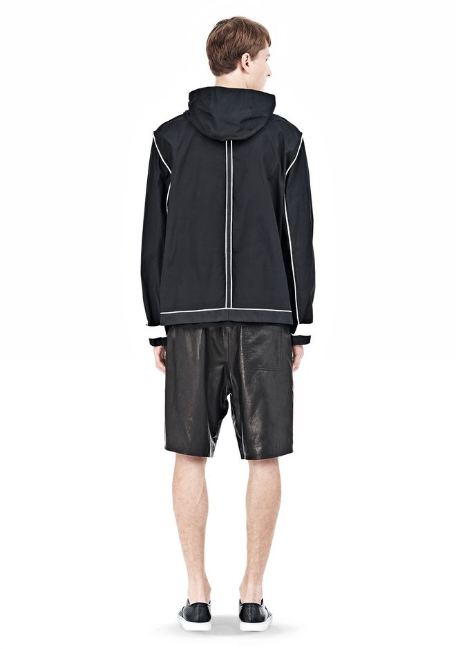 T by ALEXANDER WANG WAX COTTON INSIDE OUT HOODED JACKET JACKETS AND OUTERWEAR  Adult 12_n_r