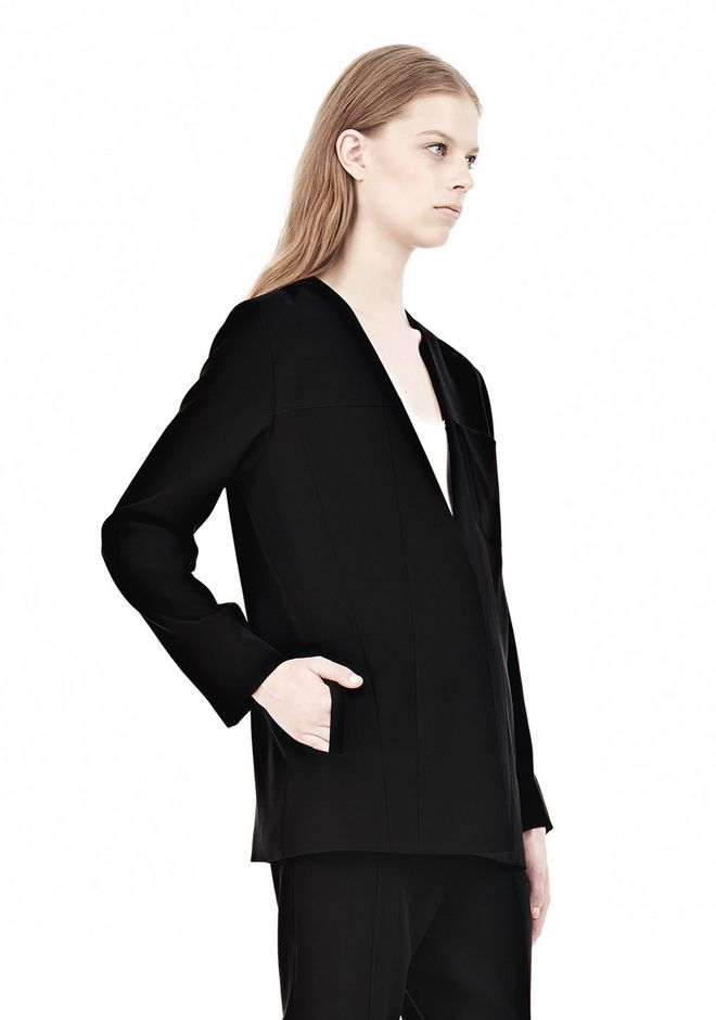 T by ALEXANDER WANG DRAPED SUITING COLLARLESS  BLAZER JACKETS AND OUTERWEAR  Adult 12_n_d