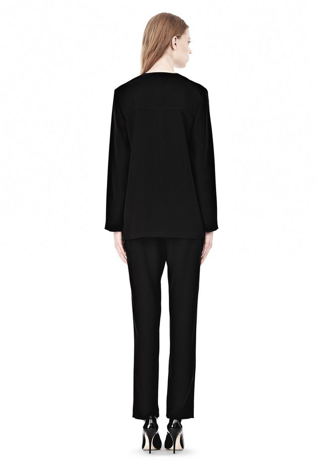 T by ALEXANDER WANG DRAPED SUITING COLLARLESS  BLAZER JACKETS AND OUTERWEAR  Adult 12_n_r