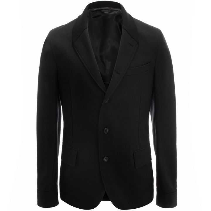 Alexander McQueen, Ribbed Collar Wool Jacket