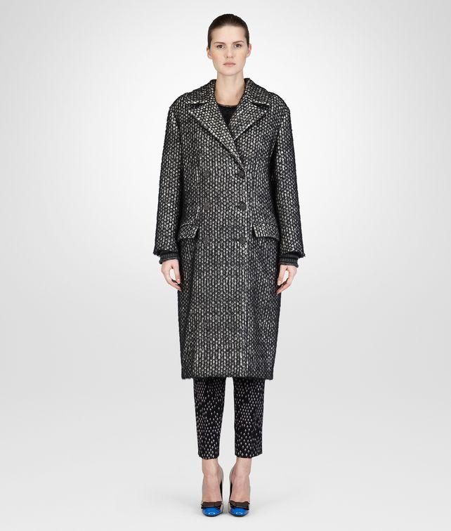 BOTTEGA VENETA BIANCO NERO SOFT HAIR COTTON WOOL COAT Coat or Jacket D fp