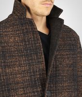 Nero New Bronze Double Check Shetland Wool Coat