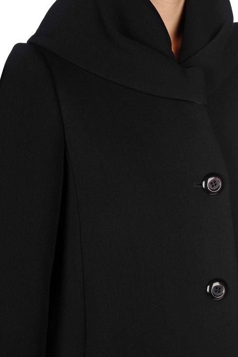 SINGLE-BREASTED COAT IN WOOL BLEND: Single-breasted coats Women by Armani - 5