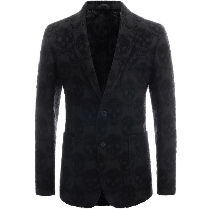 Alexander McQueen, Skull Jacquard Deconstructed Jacket