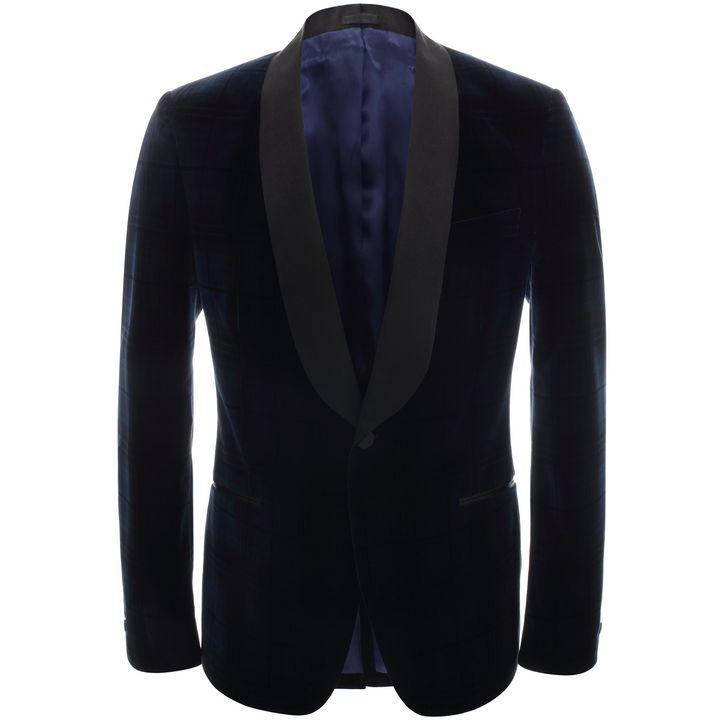 Alexander McQueen, Check Velvet Tuxedo Jacket