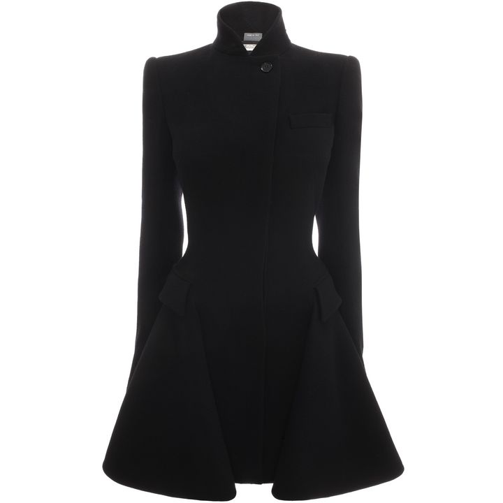 Alexander McQueen, Double Breasted Draped Detail Jacket