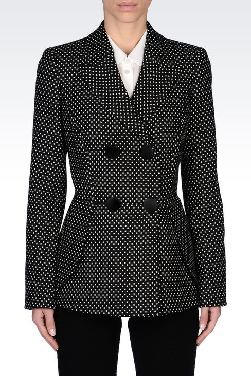 DOUBLE-BREASTED JACKET WITH POLKA DOT DESIGN: Double-breasted jackets Women by Armani - 3