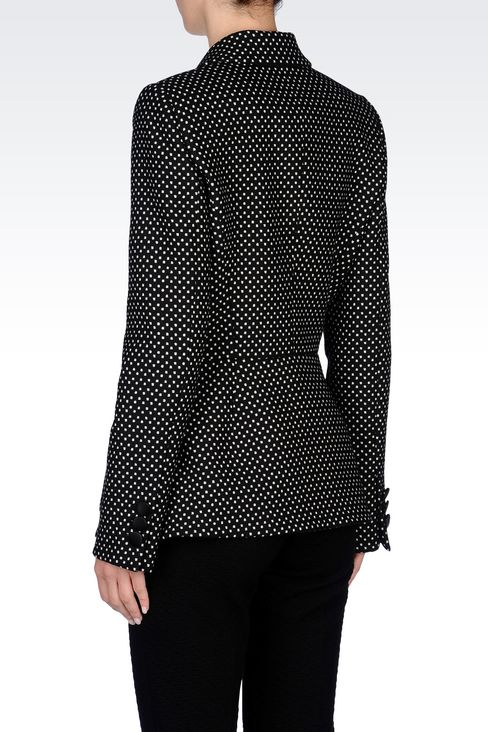 DOUBLE-BREASTED JACKET WITH POLKA DOT DESIGN: Double-breasted jackets Women by Armani - 4