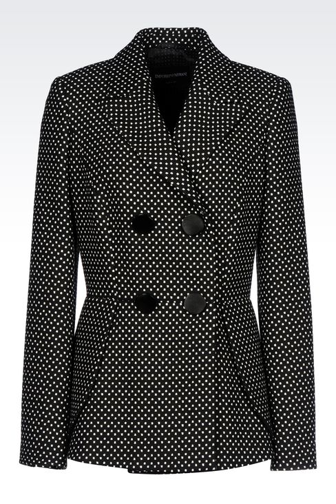 DOUBLE-BREASTED JACKET WITH POLKA DOT DESIGN: Double-breasted jackets Women by Armani - 1