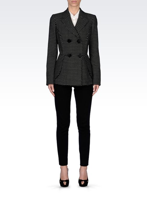 DOUBLE-BREASTED JACKET WITH POLKA DOT DESIGN: Double-breasted jackets Women by Armani - 2