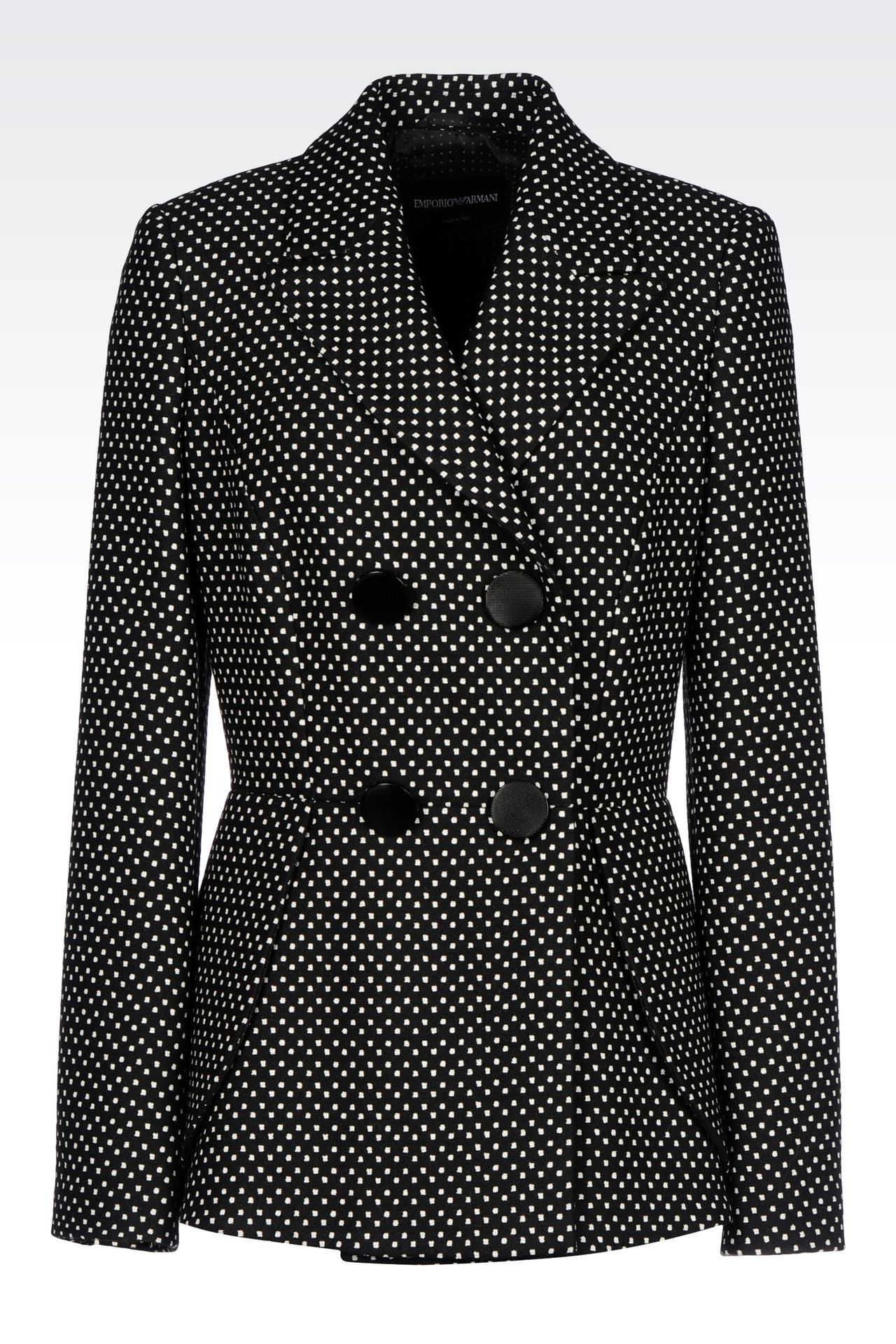 DOUBLE-BREASTED JACKET WITH POLKA DOT DESIGN: Double-breasted jackets Women by Armani - 0