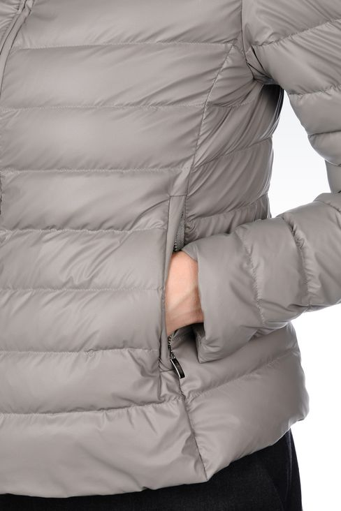 SHORT DOWN JACKET IN COATED NYLON: Bomber jackets Women by Armani - 5