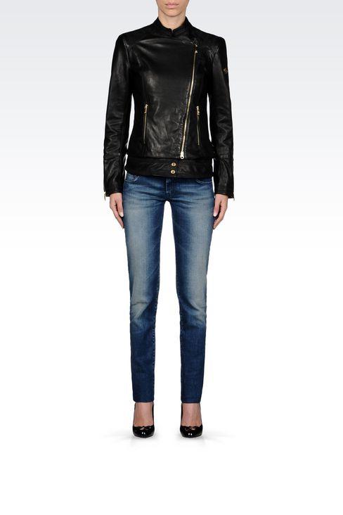Veste cuir femme armani jeans