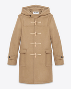 CLASSIC DUFFLE COAT IN CAMEL WOOL