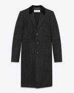 CLASSIC CHESTERFIELD COAT IN Anthracite Wool
