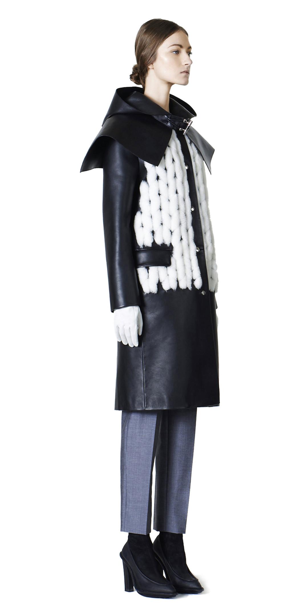 Balenciaga Manteau Cuir Spirale