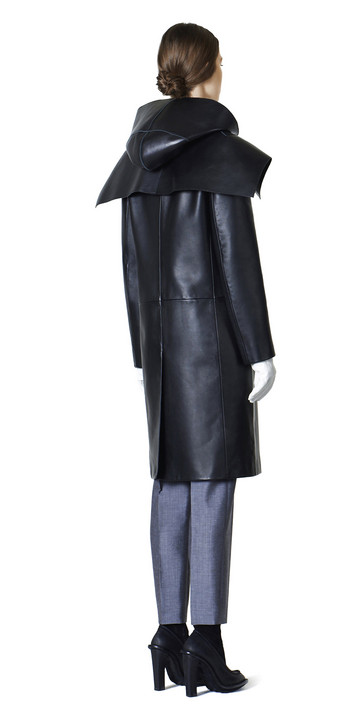 Balenciaga Spiral Leather Coat