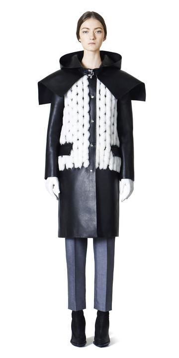 Balenciaga Cappotto Spiral in Pelle