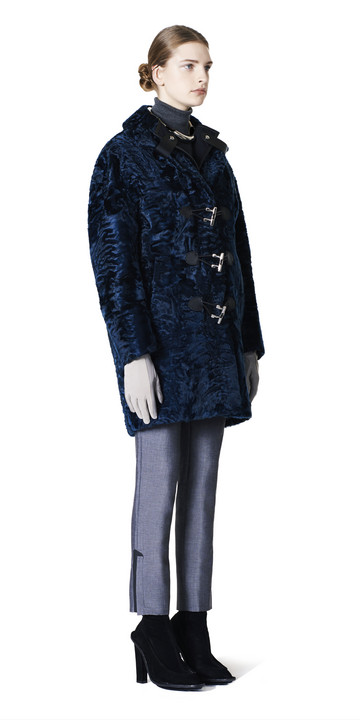 Balenciaga Toggle Fur Coat
