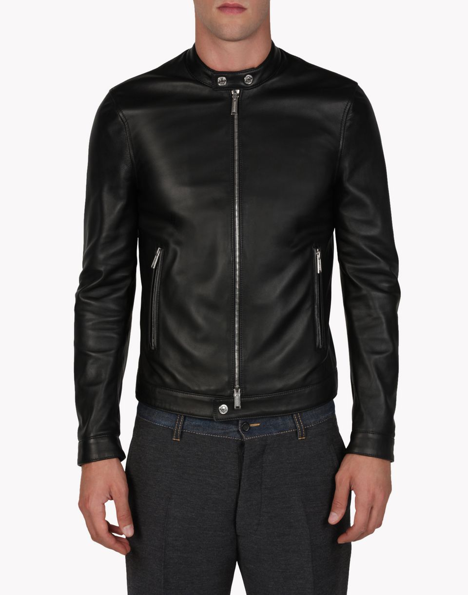 dsquared2 chick leather bomber manteau cuir pour homme boutique en ligne officielle. Black Bedroom Furniture Sets. Home Design Ideas