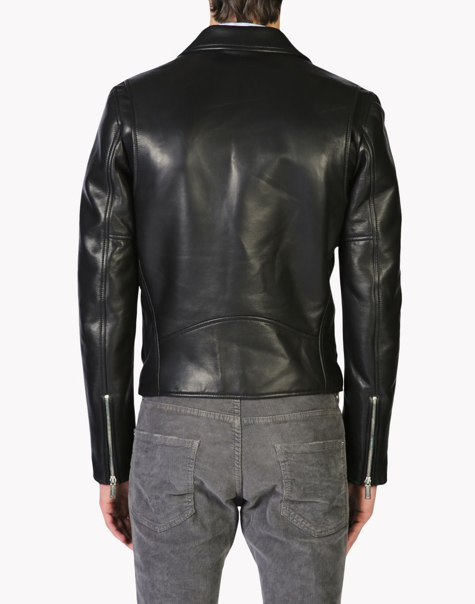 Dsquared Mens Leather Jacket Dsquared2 Uk
