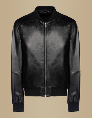 TJ TRUSSARDI JEANS - Leather jacket