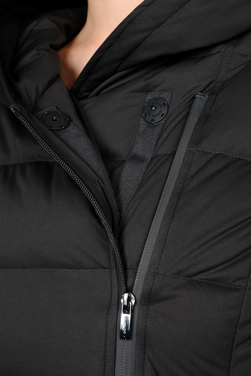 HOODED DOWN JACKET IN TECHNICAL FABRIC: Dust jackets Women by Armani - 5