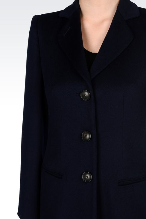CLASSIC COAT IN WOOL BROADCLOTH: Single-breasted coats Women by Armani - 5