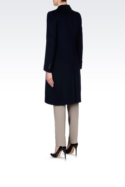 CLASSIC COAT IN WOOL BROADCLOTH: Single-breasted coats Women by Armani - 4