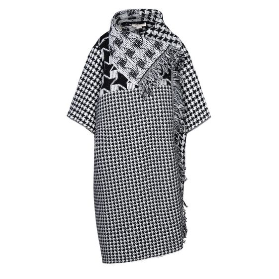 STELLA McCARTNEY, Cape, Dogtooth Blanket Cape