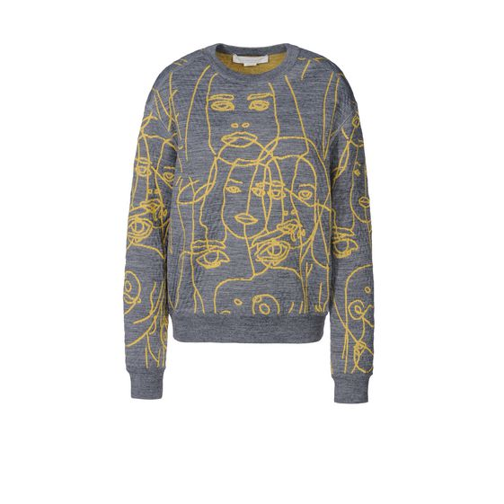 STELLA McCARTNEY, Sweater, Line Drawn Faces Jumper