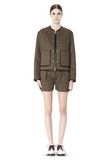 ALEXANDER WANG QUILTED BOMBER JACKET WITH LEATHER DETAIL Jacket Adult 8_n_f