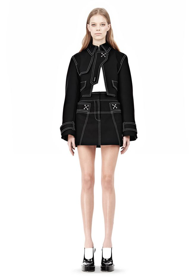 ALEXANDER WANG CUTAWAY TRENCH WITH CONTRAST STITCHING Jacket Adult 12_n_f