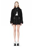 ALEXANDER WANG CUTAWAY TRENCH WITH CONTRAST STITCHING Jacket Adult 8_n_f
