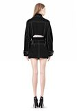 ALEXANDER WANG CUTAWAY TRENCH WITH CONTRAST STITCHING Jacket Adult 8_n_r